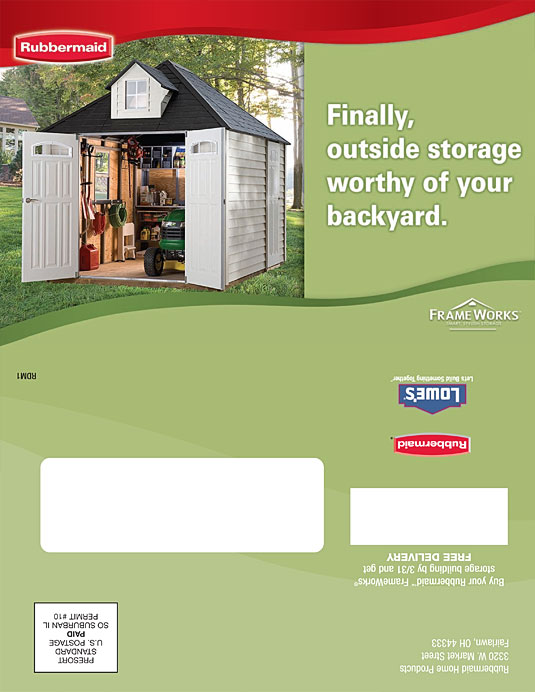 Rubbermaid Direct Mail Brochure 1