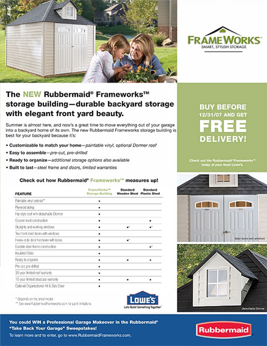 Rubbermaid Direct Mail Brochure 2