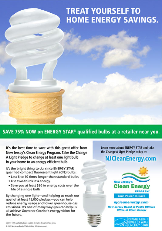New Jersey Clean Energy Print Advertisement