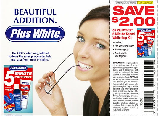 Plus White Toothpaste FSI 1