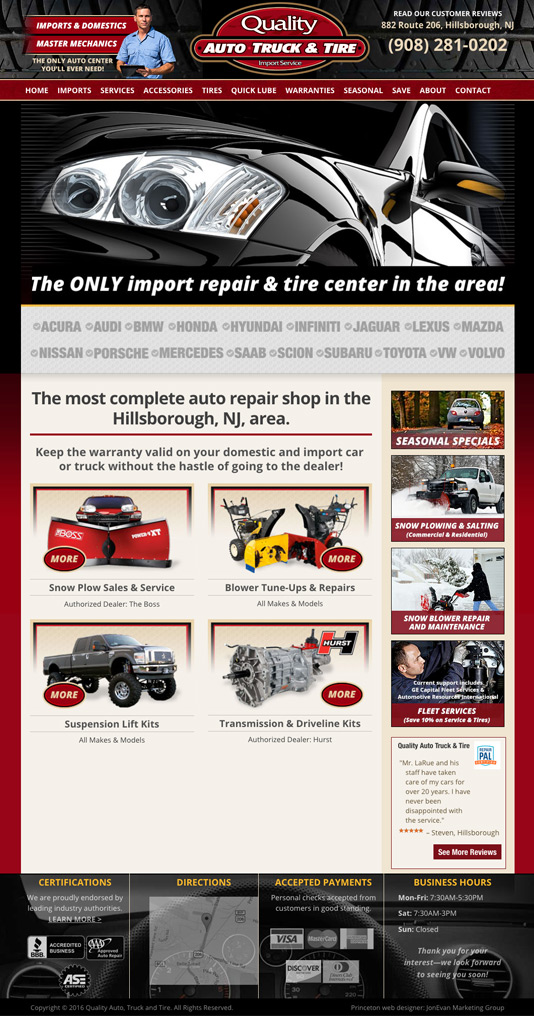 quality auto truck and tire hillsborough