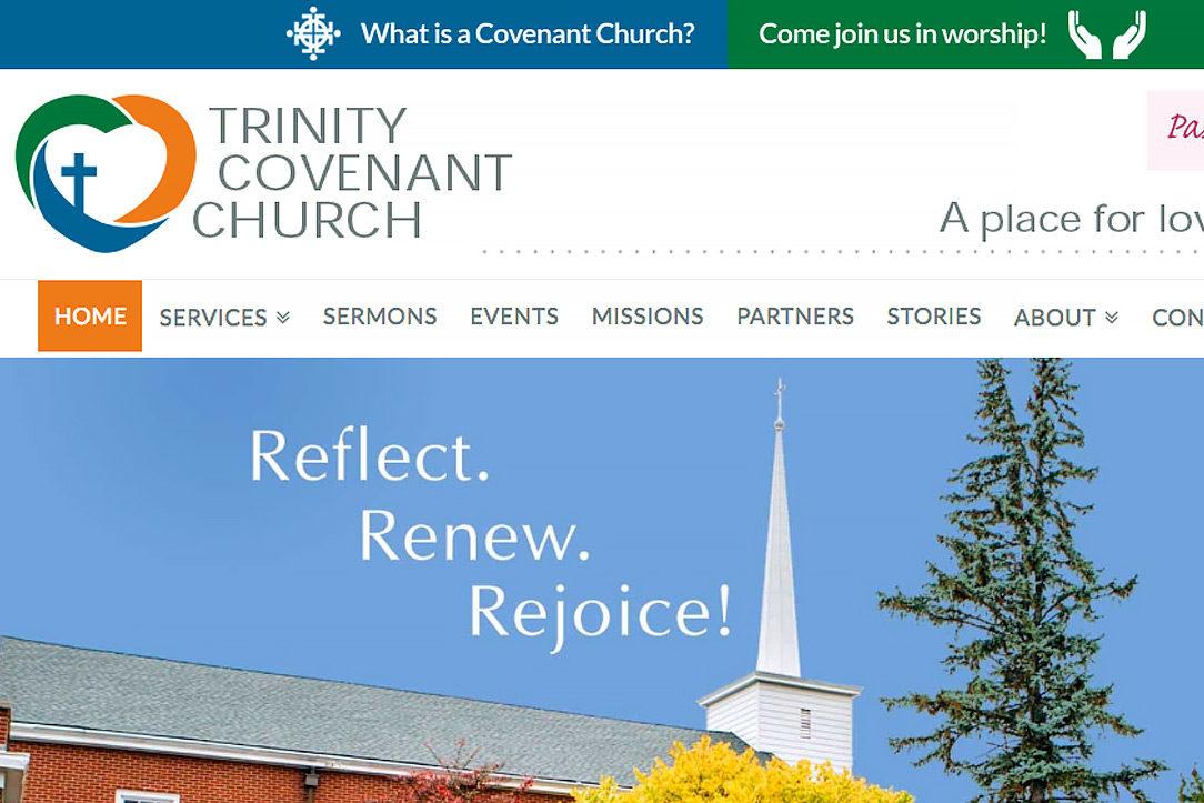 Trinity Covenant Church portfolio header