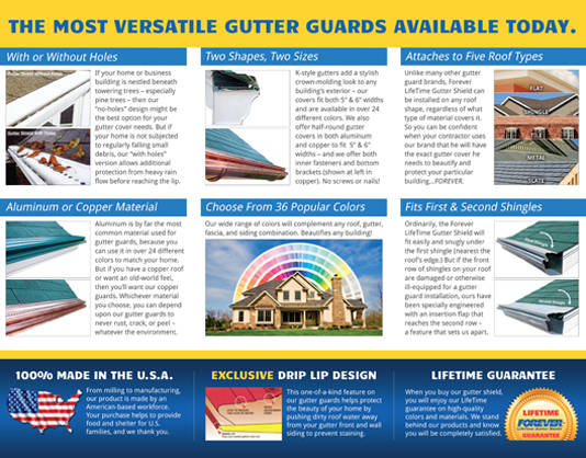 Forever Lifetime Gutter Shield brochure 2