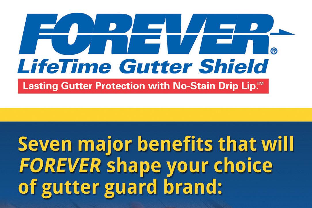 Forever Lifetime Gutter Shield Direct Mail