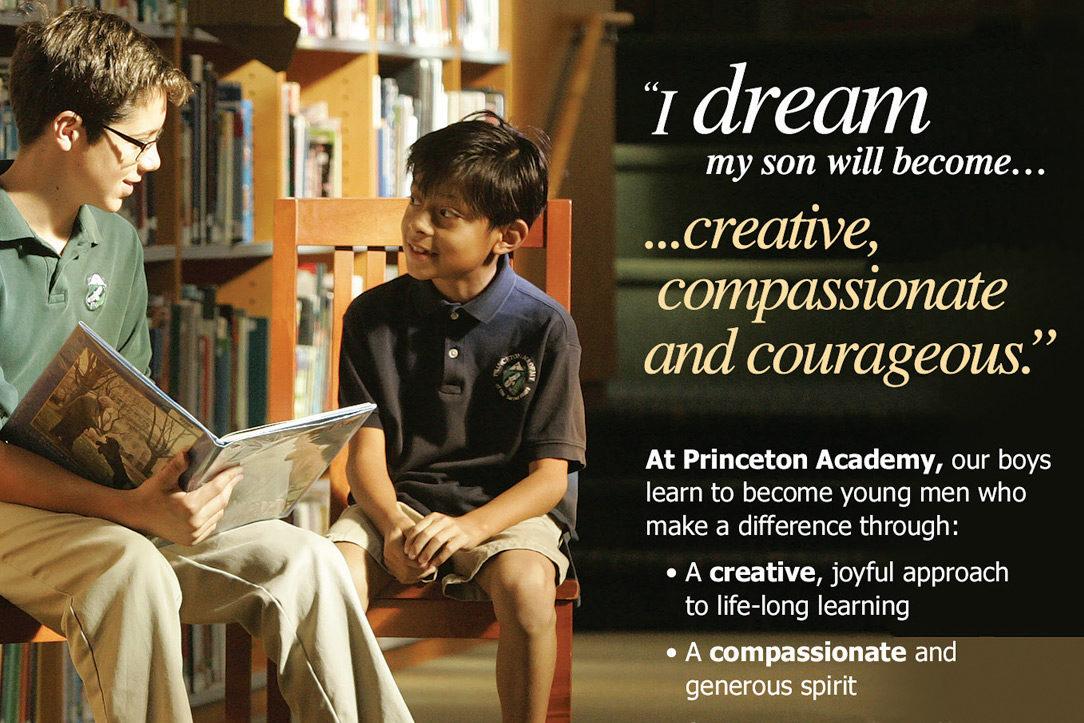Princeton Academy print advertising
