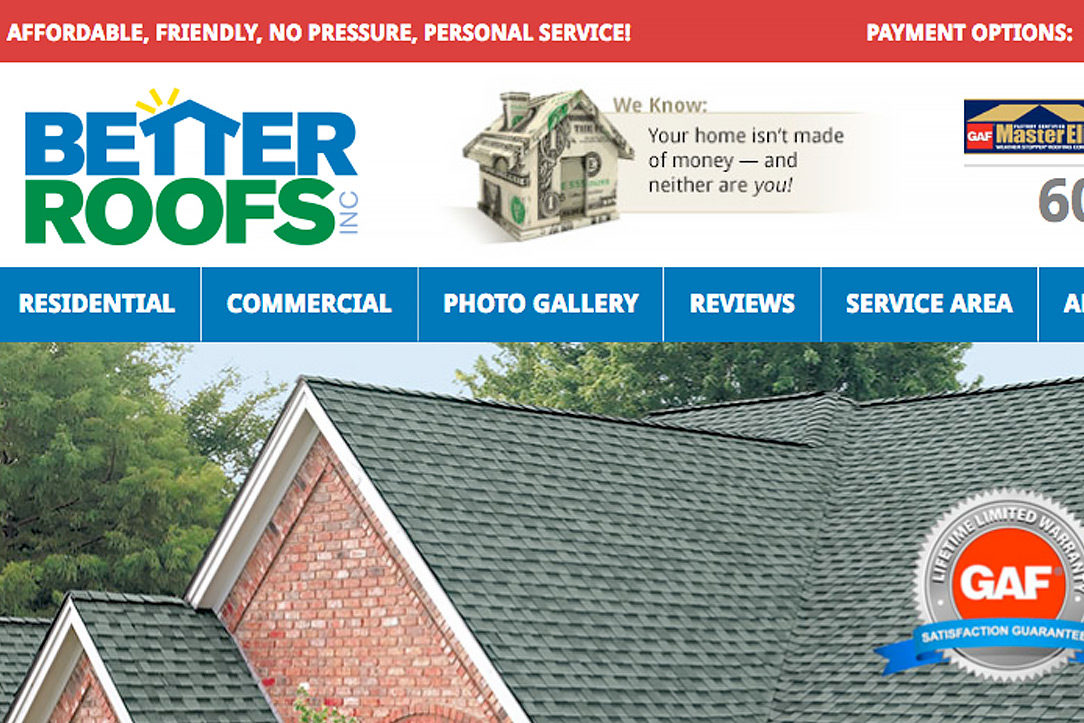 Better Roofs Website