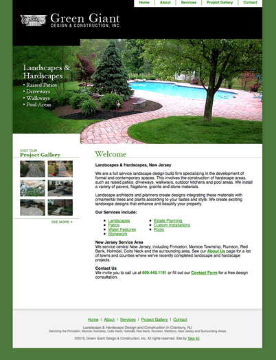 old green giant landscaping website