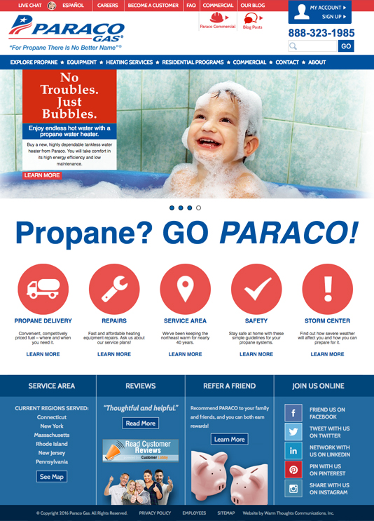 Paraco Gas home page