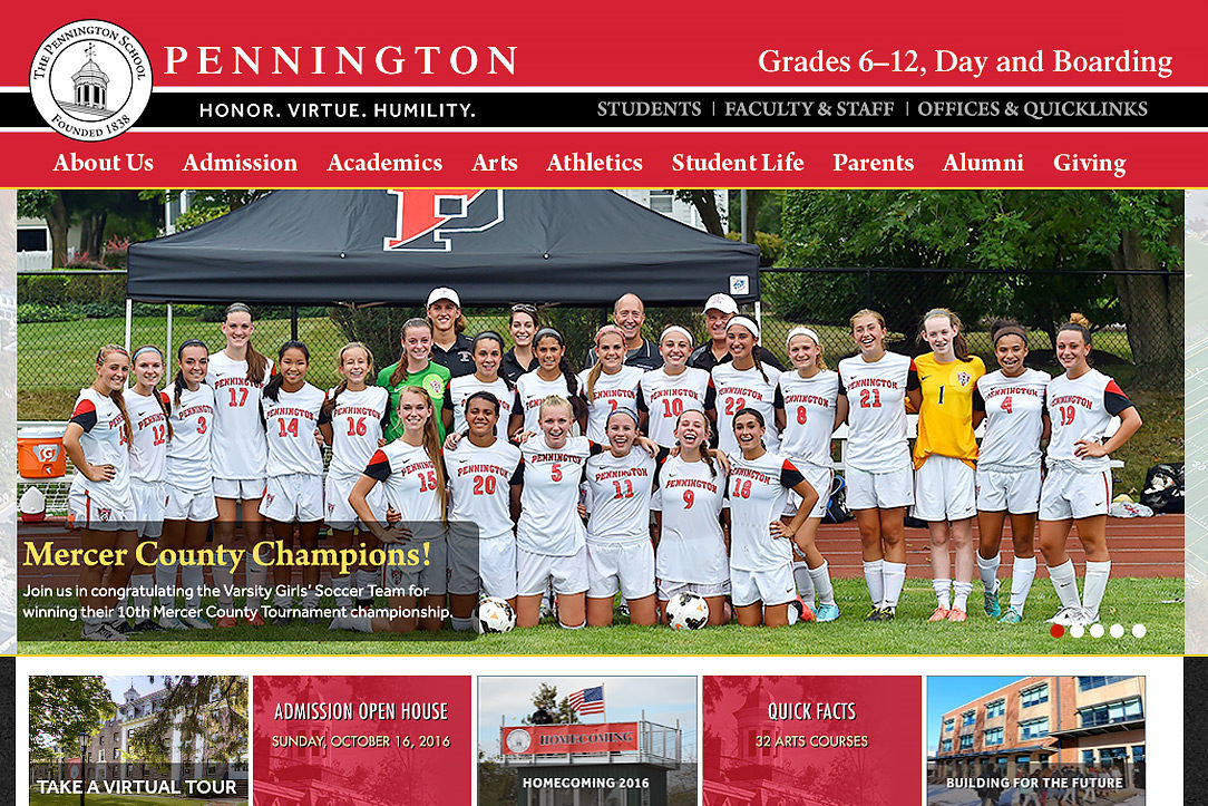 The Pennington School website